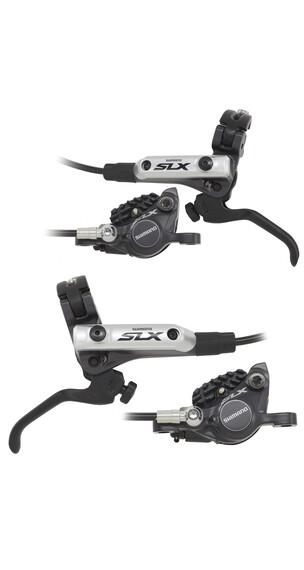 Shimano SLX BR-M675 Scheibenbremsen Bundle Ice-Tech mit F03C Metall schwarz/silber